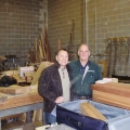 Checking wood with our friend Wayne Dunlop