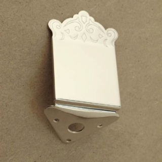 37EN - Mandolin tailpiece engraver cover, stainless base