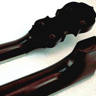 Fiddle headstock and heel